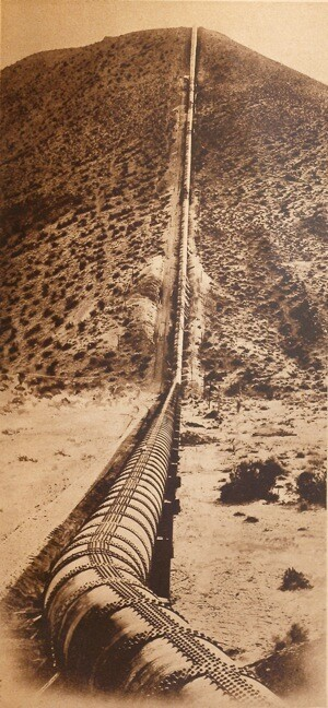 The Los Angeles Aqueduct at Jawbone Canyon in Kern County. | Photo: Courtesy of Special Collections, Honnold/Mudd Library, The Claremont Colleges