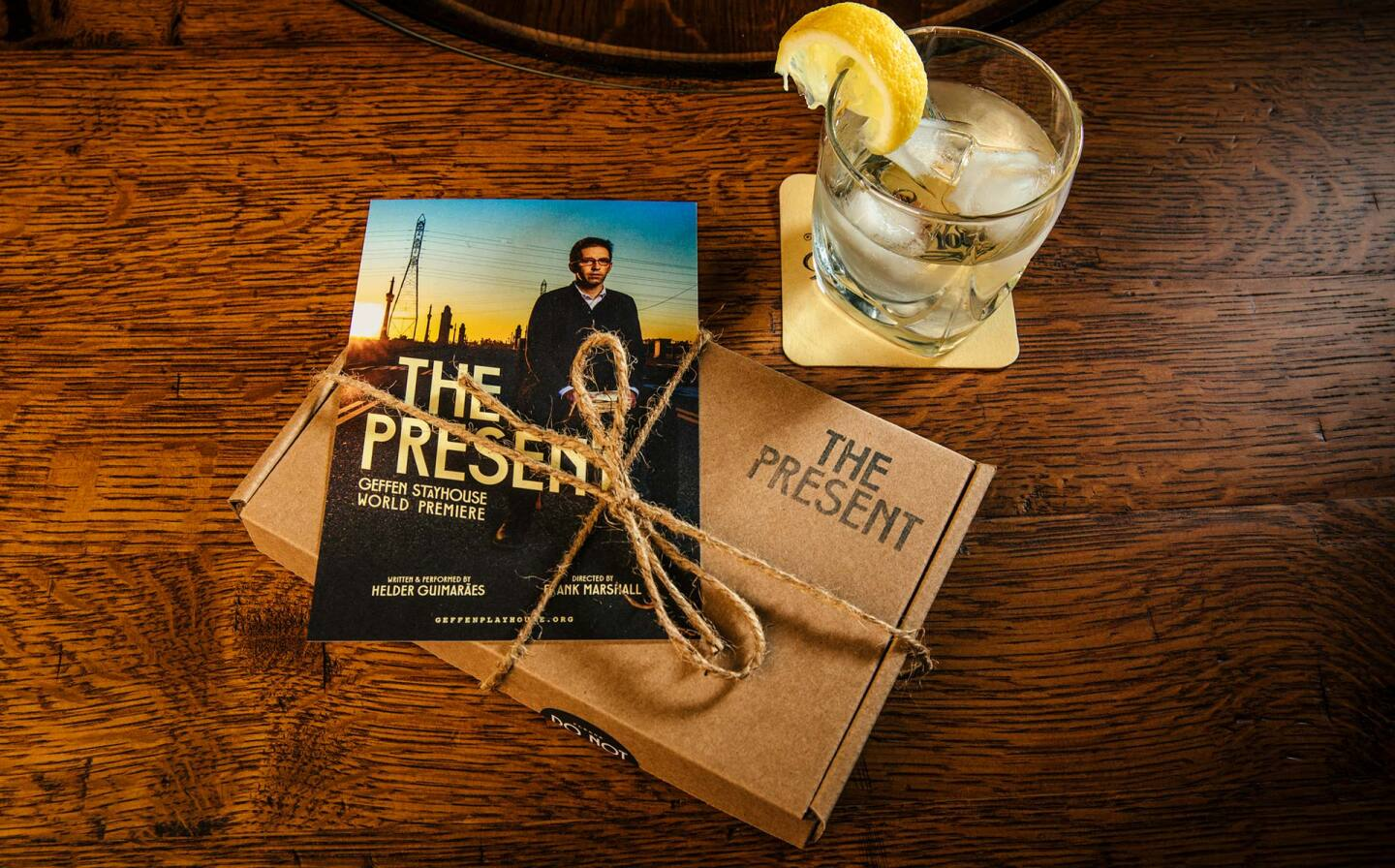 The Geffen Stayhouse production of The Present. Written and performed by Helder Guimarães, directed by Frank Marshall. | Geffen Playhouse