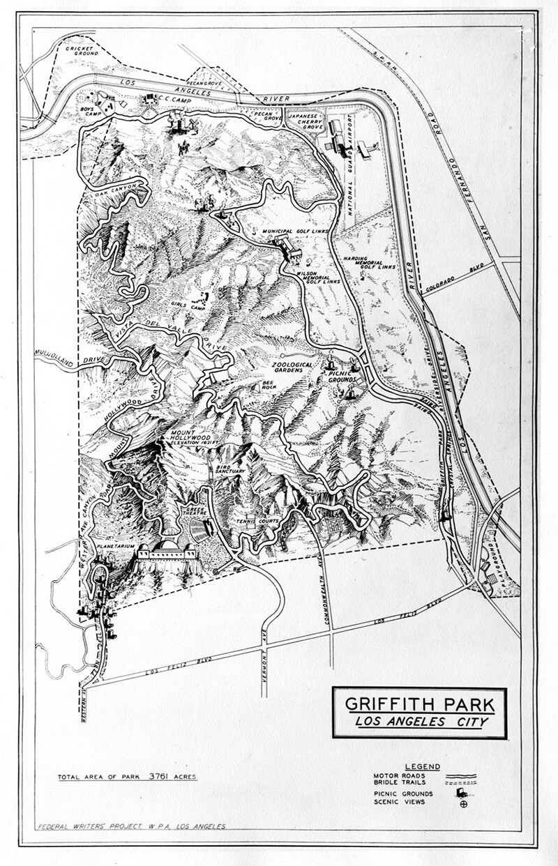 Griffith Park Federal Writers Project, Works Progress Administration, Los Angeles c. 1935