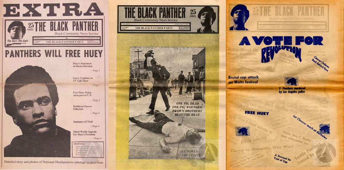 Black Panther magazine covers from September 14, 1968; May 11, 1969 and October 12, 1969. | Archive.org