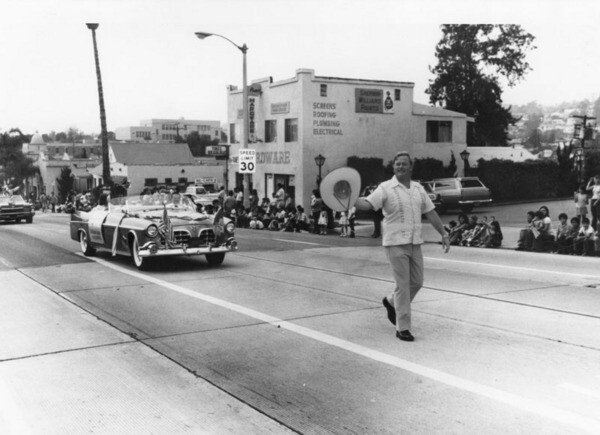 Art Snyder leads a  Mexican Independence Day Parade ca. 1980 | Courtesy of Los Angeles Public Library