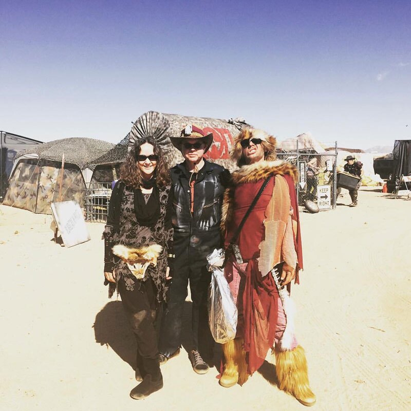 Tyler Stallings, Naida Osline and Archer Altstaetter at Wasteland Weekend