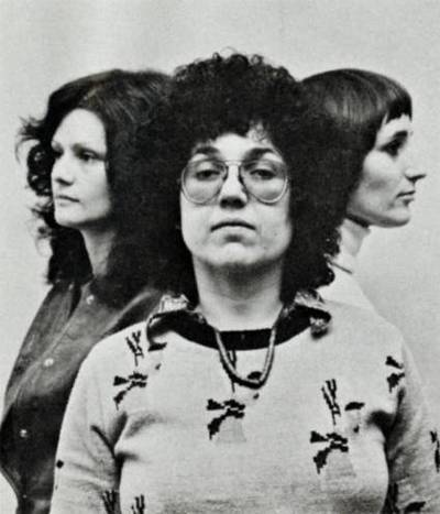 Woman's Building founders Arlene Raven, Judy Chicago and Sheila Levrant de Bretteville. Woman's Building Image Archive, ​Otis College of Art and Design Lib