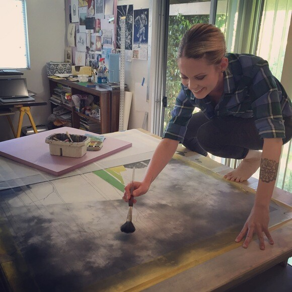 Sara J. Frantz works in her San Luis Obispo studio. | Photo: Courtesy of Sara J. Frantz.
