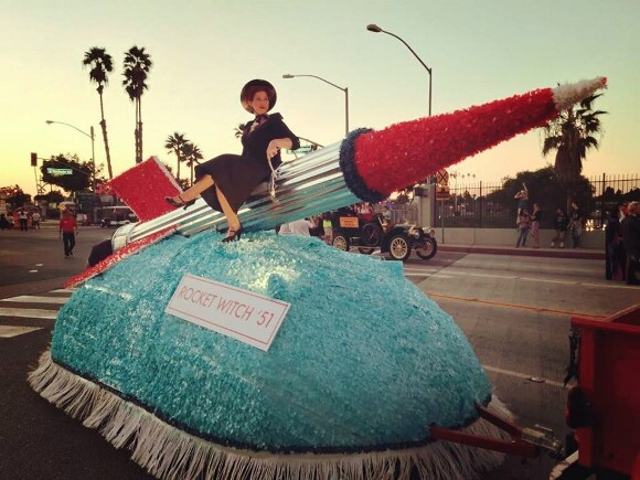 """Replica of """"Rocket Witch"""" with Amber Cavener, 2014. 