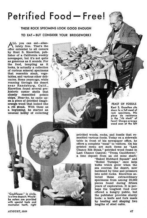 Petrified Foods -- Free! Popular Science, August 1939. | © Popular Science.