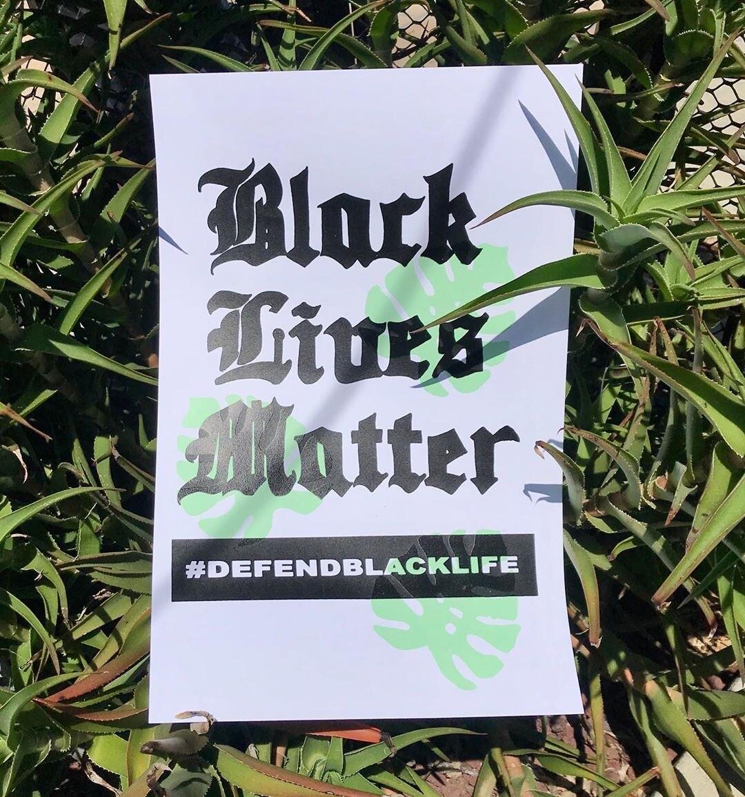 Black Lives Matter poster | Ni Santas for Self Help Graphics