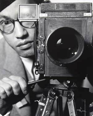 Toyo Miyatake behind the camera, a self-portrait | Courtesy of Toyo Miyatake Studio