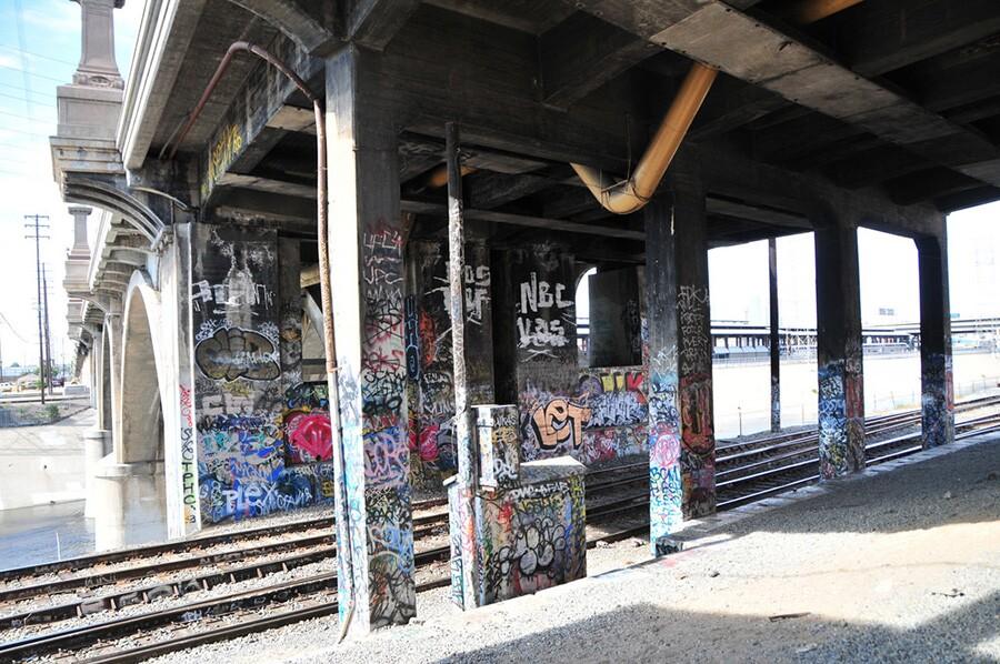 graffiti along the river
