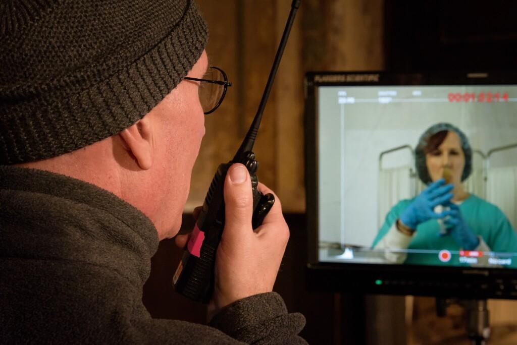 "Director Charles Otte shooting for episode ten of ""Vireo""   David Soderlund"