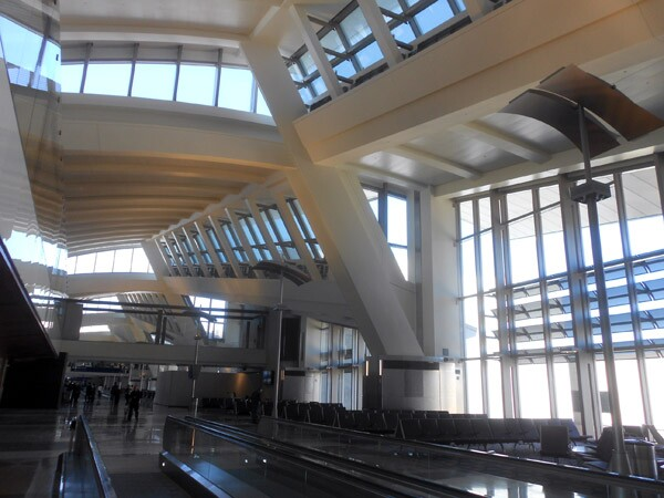Natural sunlight illuminates the newly-expanded LAX Tom Bradley International Terminal.