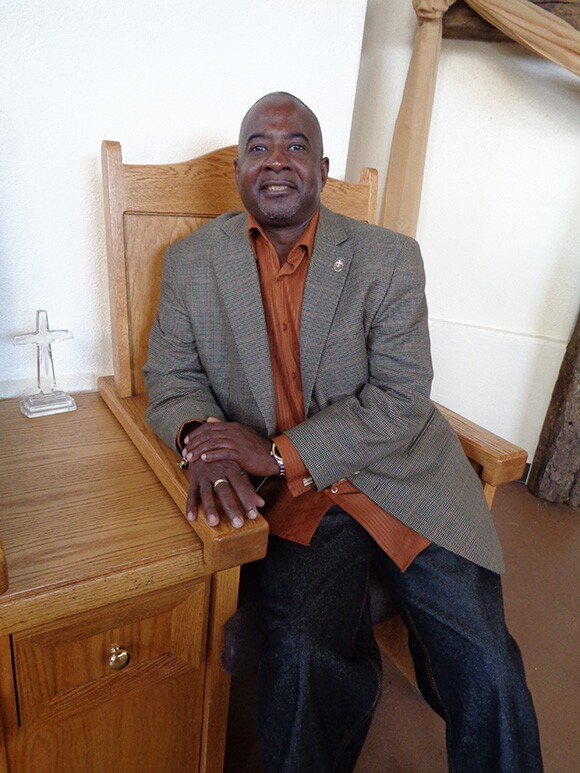 Rev. Melvin Ashley in his new church | Photo: Scarlet Cheng