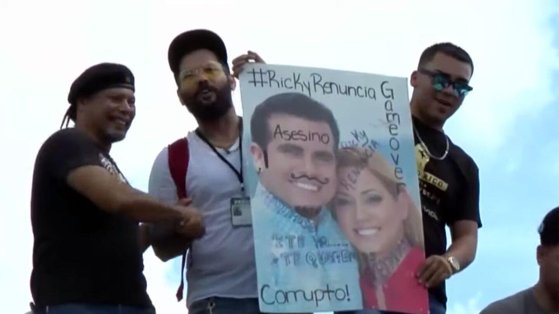 Protestors in Puerto Rico