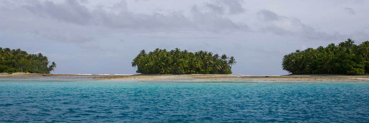 View across a small island in the Marshall Islands. | Courtesy of of Thomson Reuters Foundation