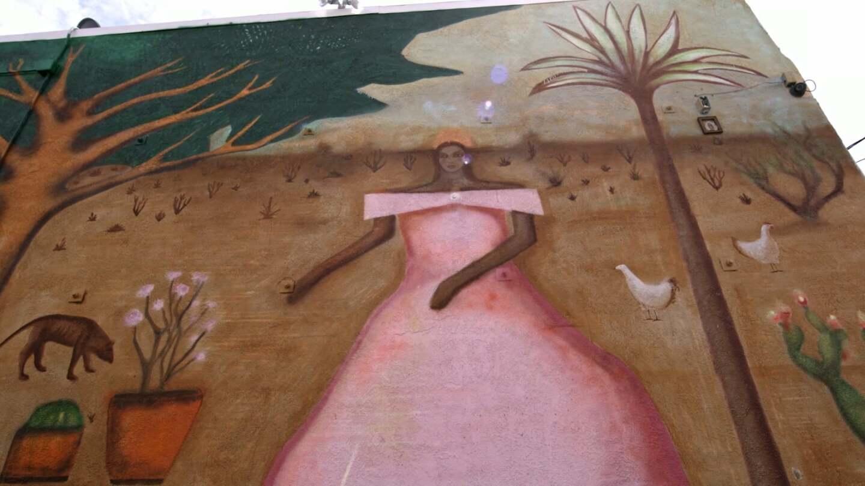 "A closer look at Armando Lerma's ""La Fiesta en el Desierto"" | Still from Desert X AB s9"