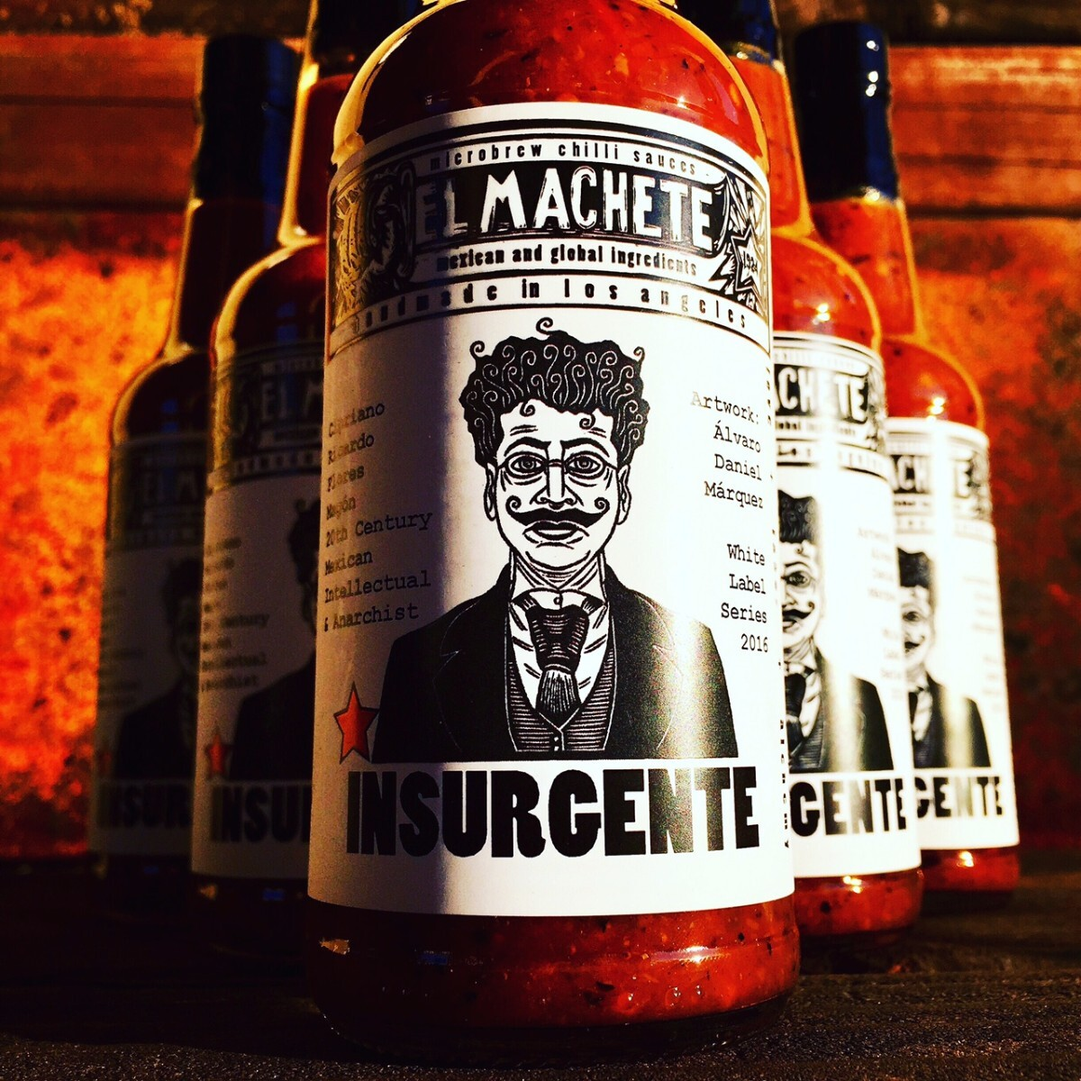 The Insurgente hot sauce uses artwork by Alvaro Daniel Marquez | Courtesy of El Machete