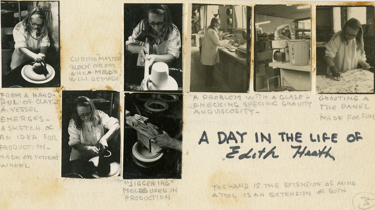 A Day in the Life of Edith Heath | Courtesy of the Environmental Design Archives at UC Berkeley