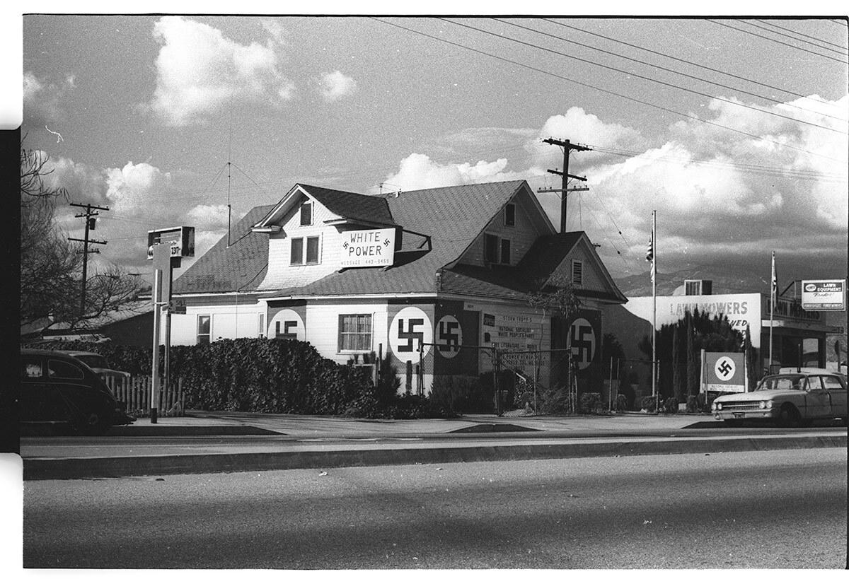 Nazi headquarters in El Monte, 1970.   Courtesy of Michael Sedano