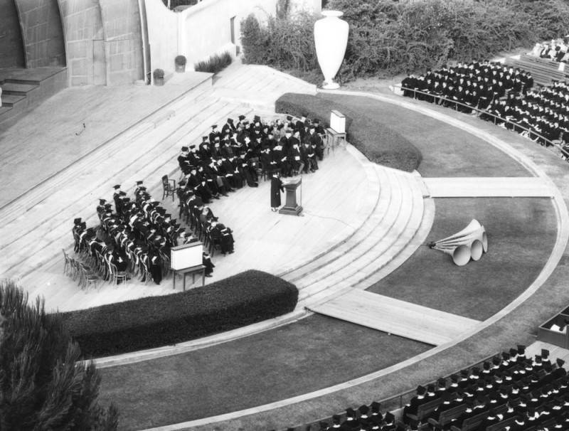 Graduation ceremony at the Hollywood Bowl