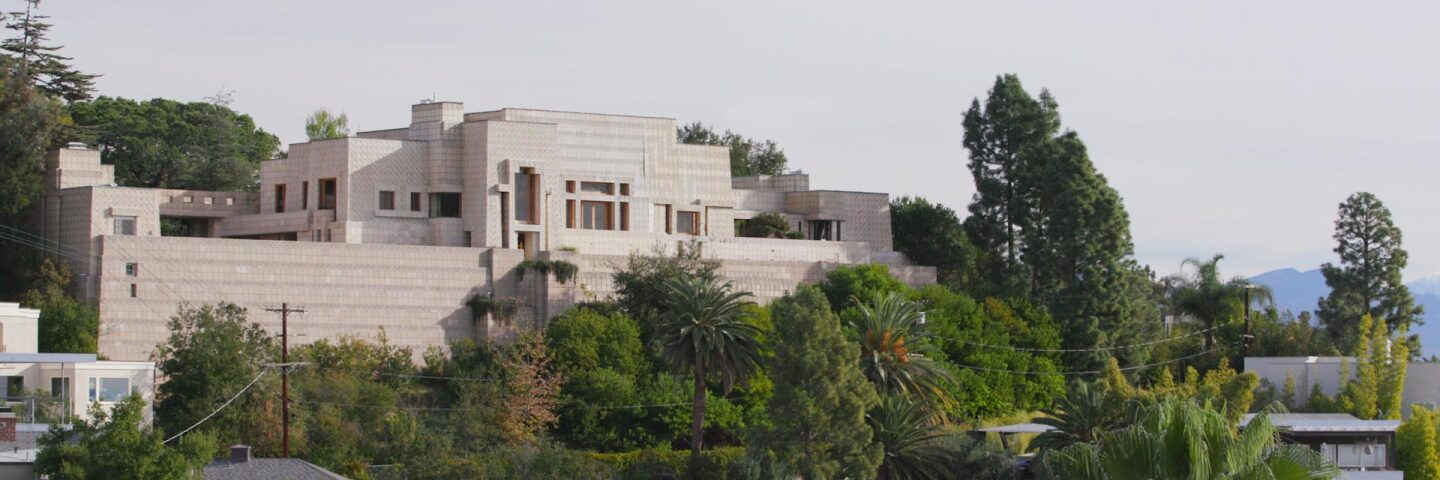 Ennis House still from Frank Lloyd Wright AB s9