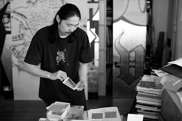 Gajin Fujita in the Studio 2010 | Photo: Jeff McLane, Courtesy of L.A. Louver, Venice, CA