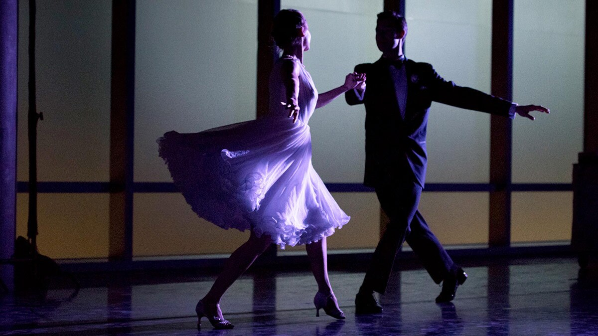American Contemporary Ballet dancers Sarah Bukowski and Josh Brown dance together.   Pierre Michel-Estival