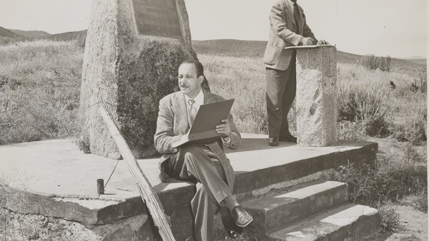 Charles Alston (left) and Hale Woodruff at Beckwourth Pass