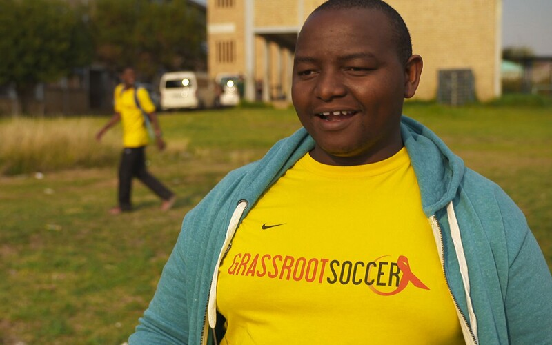 Sikhumbuzo Mnculwane, better known as SK, is the site coordinator for Grassroot Soccer in Alexandra, South Africa.