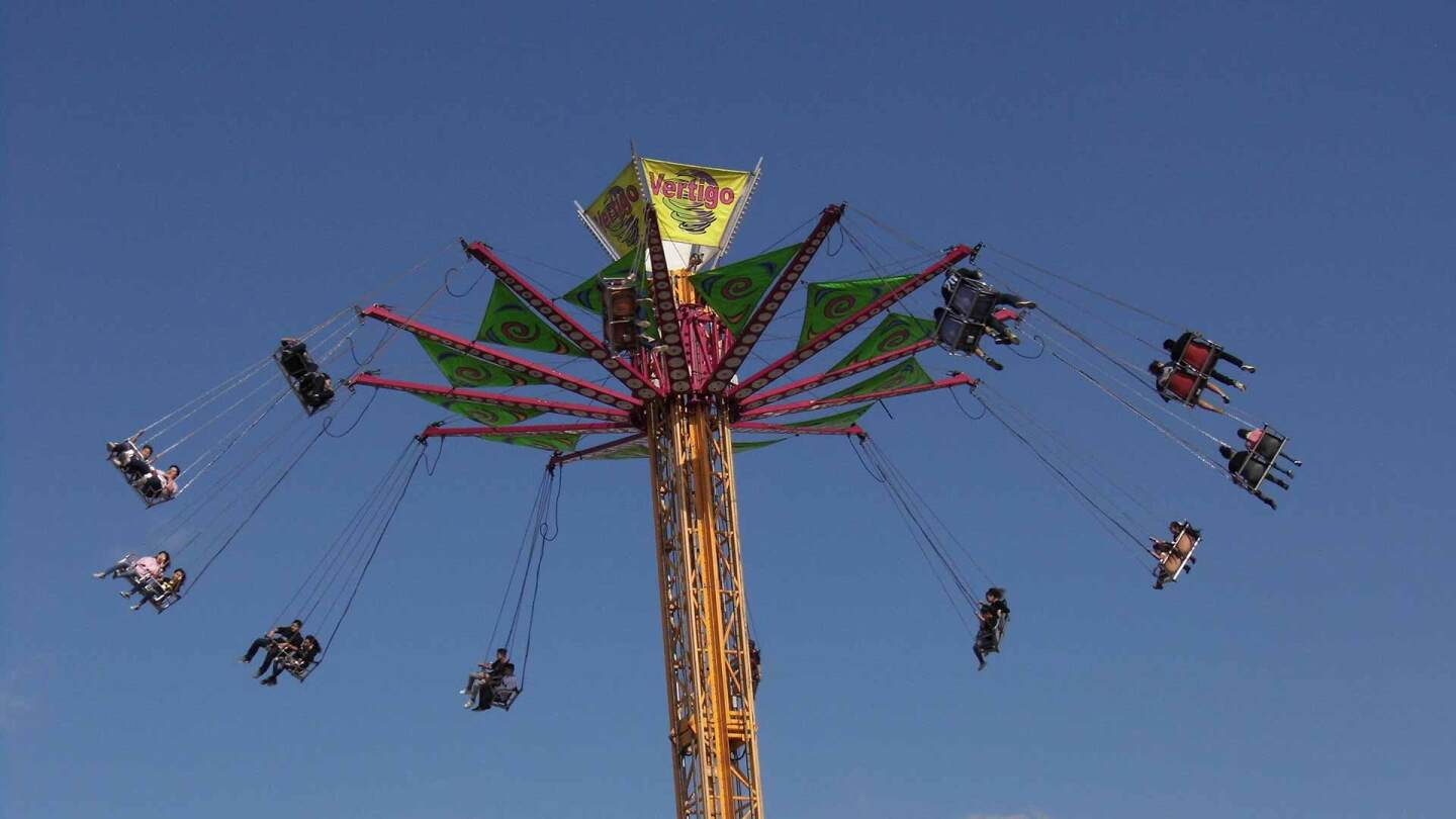 swing ride at the Riverside County Fair
