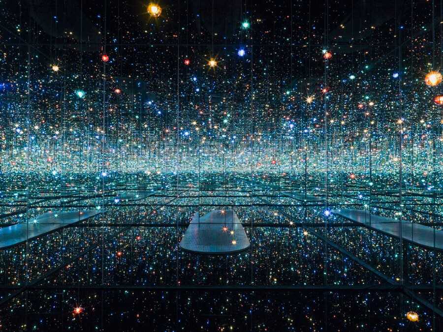 """Infinity Mirrored Room"" by Yayoi Kusama. 