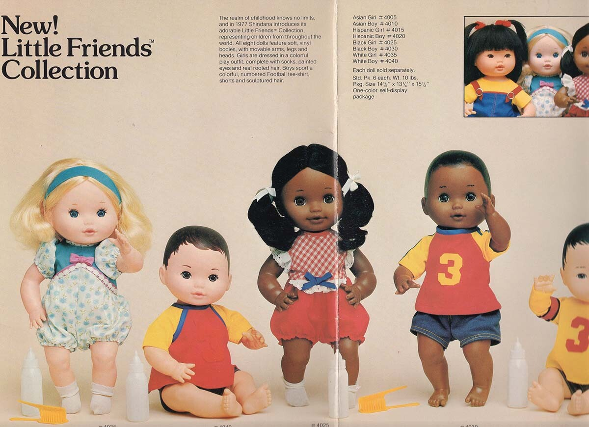 Little Friends collection from Shindana Toys showing dolls of different ethnicities   Courtesy of Billie Green
