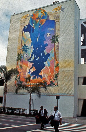 Willie Herron World Cup mural at LAX I SPARC