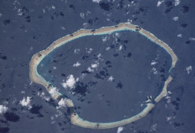 Aerial view of the Carteret Islands. | Courtesy of NASA