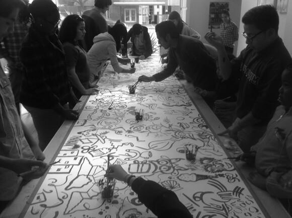 Sumi Ink Club gathering at Heart of LA (HOLA).