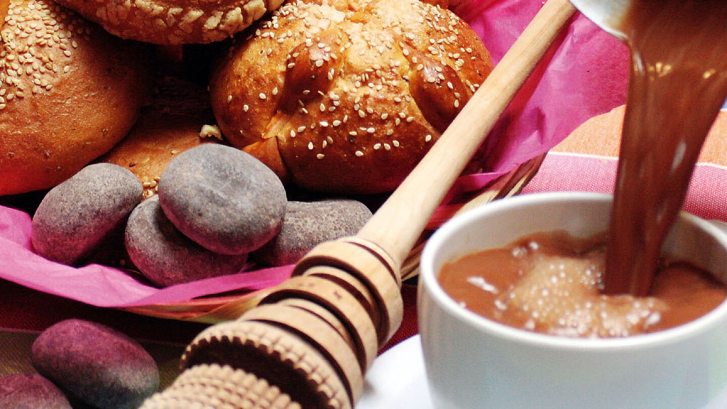 Drinking chocolate and pan dulce at Guelaguetza | Courtesy of Guelaguetza