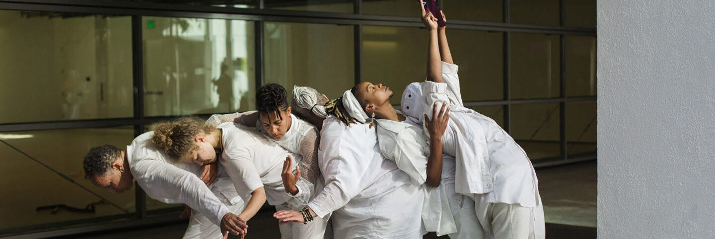 """taisha paggett, """"breathingholdinglistening practice."""" In conjunction with Made in L.A. 2018, Hammer Museum, Los Angeles, September 1, 2018. 