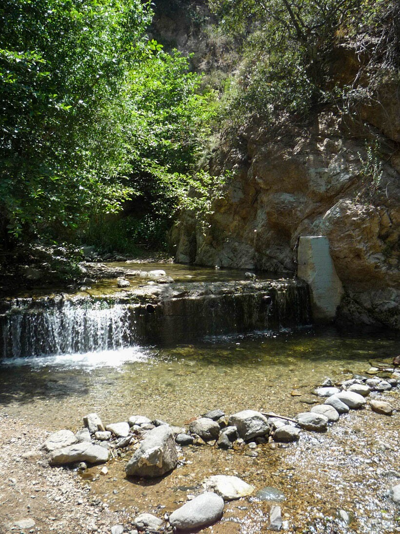 The Eaton Canyon Stream found along the trail to the falls.
