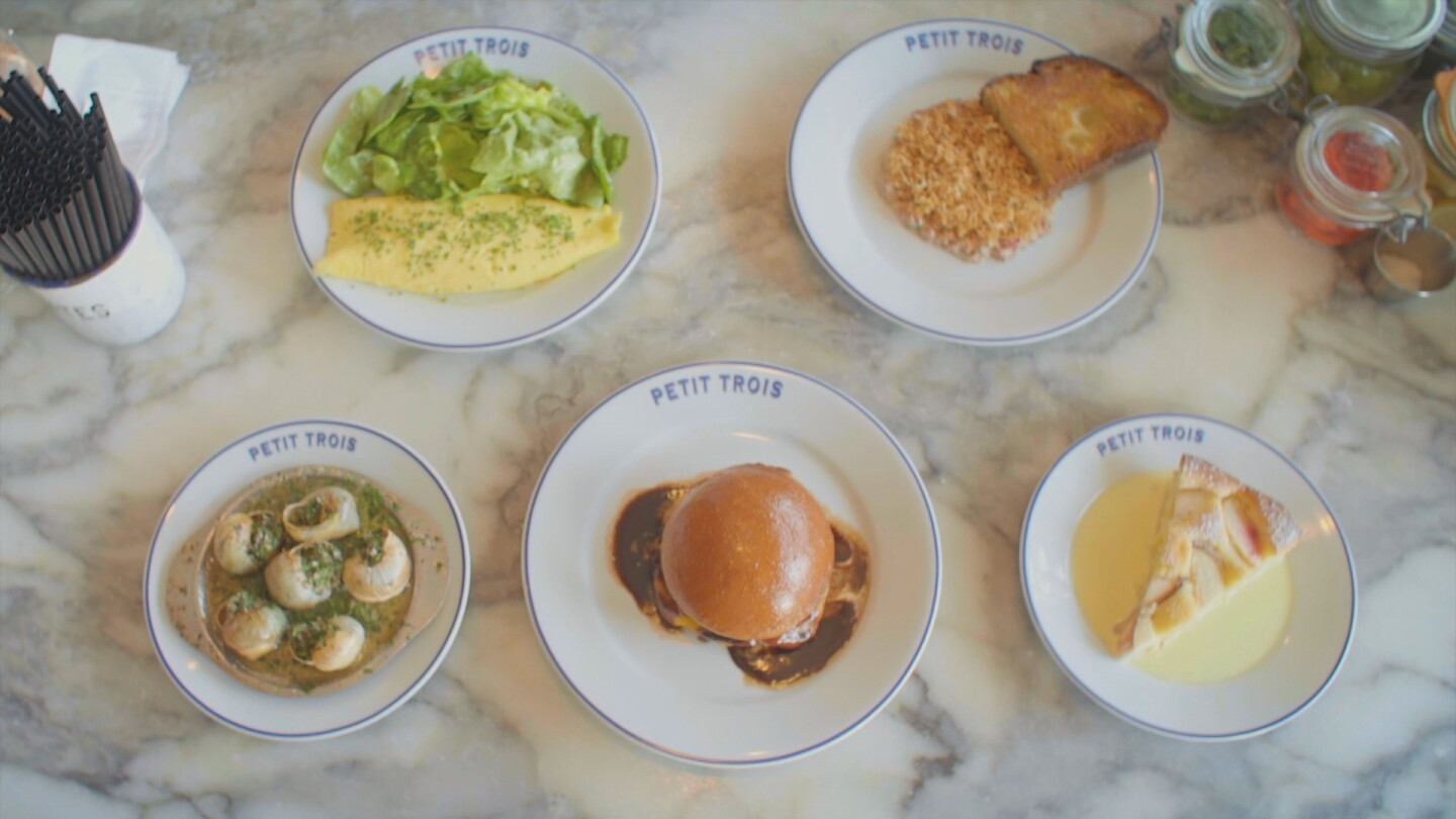 Still of Petit Trois plates from Meals Ready to Eat