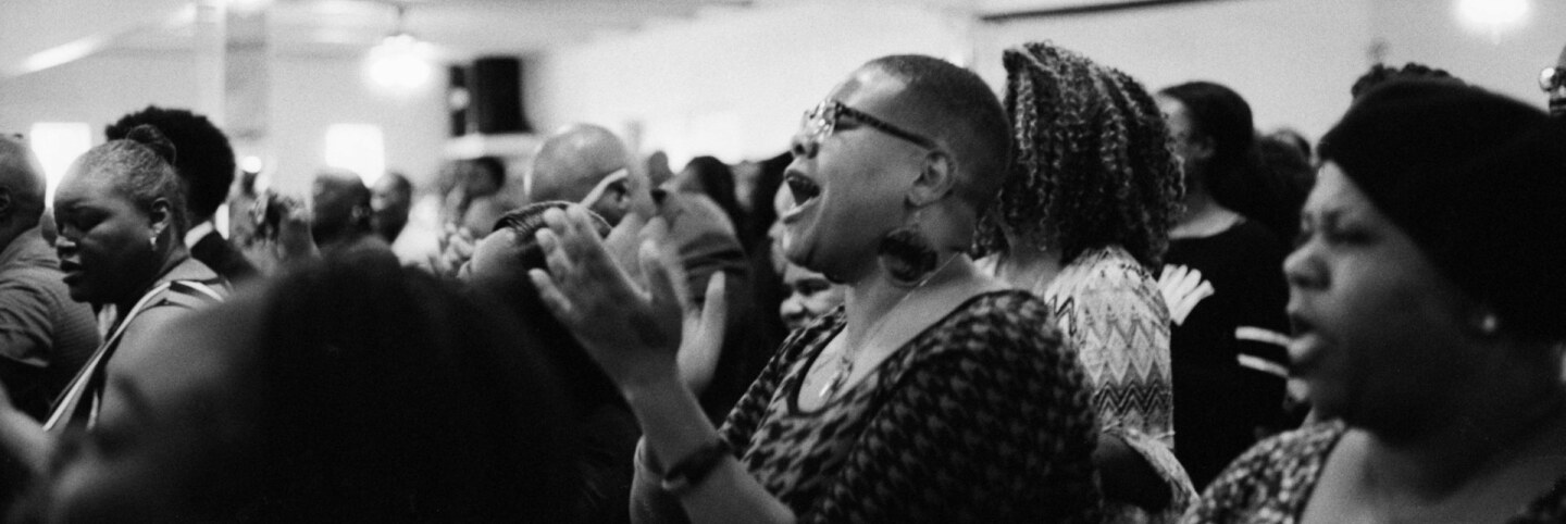 """Church service. Image from """"Artbound"""" How Sweet The Sound: Gospel In Los Angeles ABs10 Gospel"""