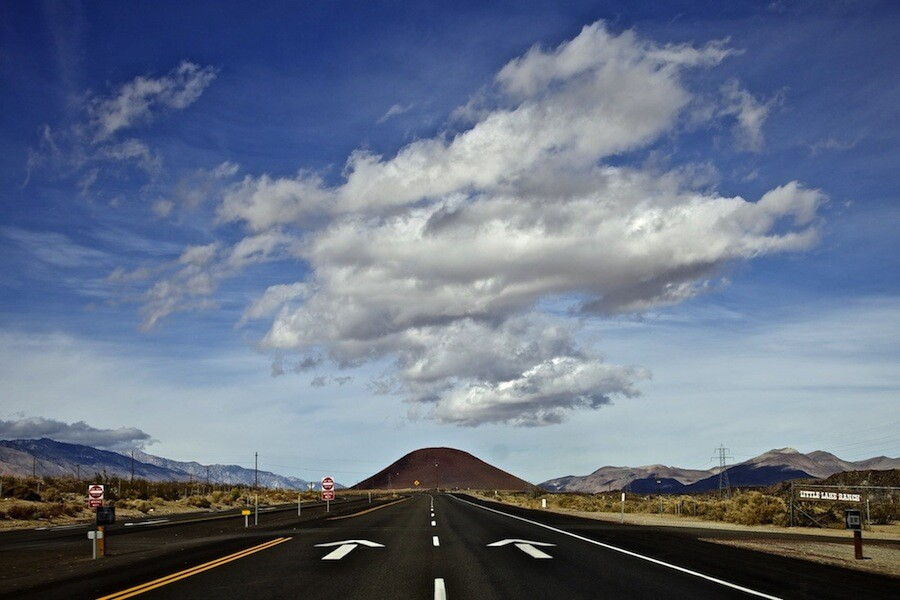 Great Cloud Over Red Hill - Fossil Falls, CA - 2012