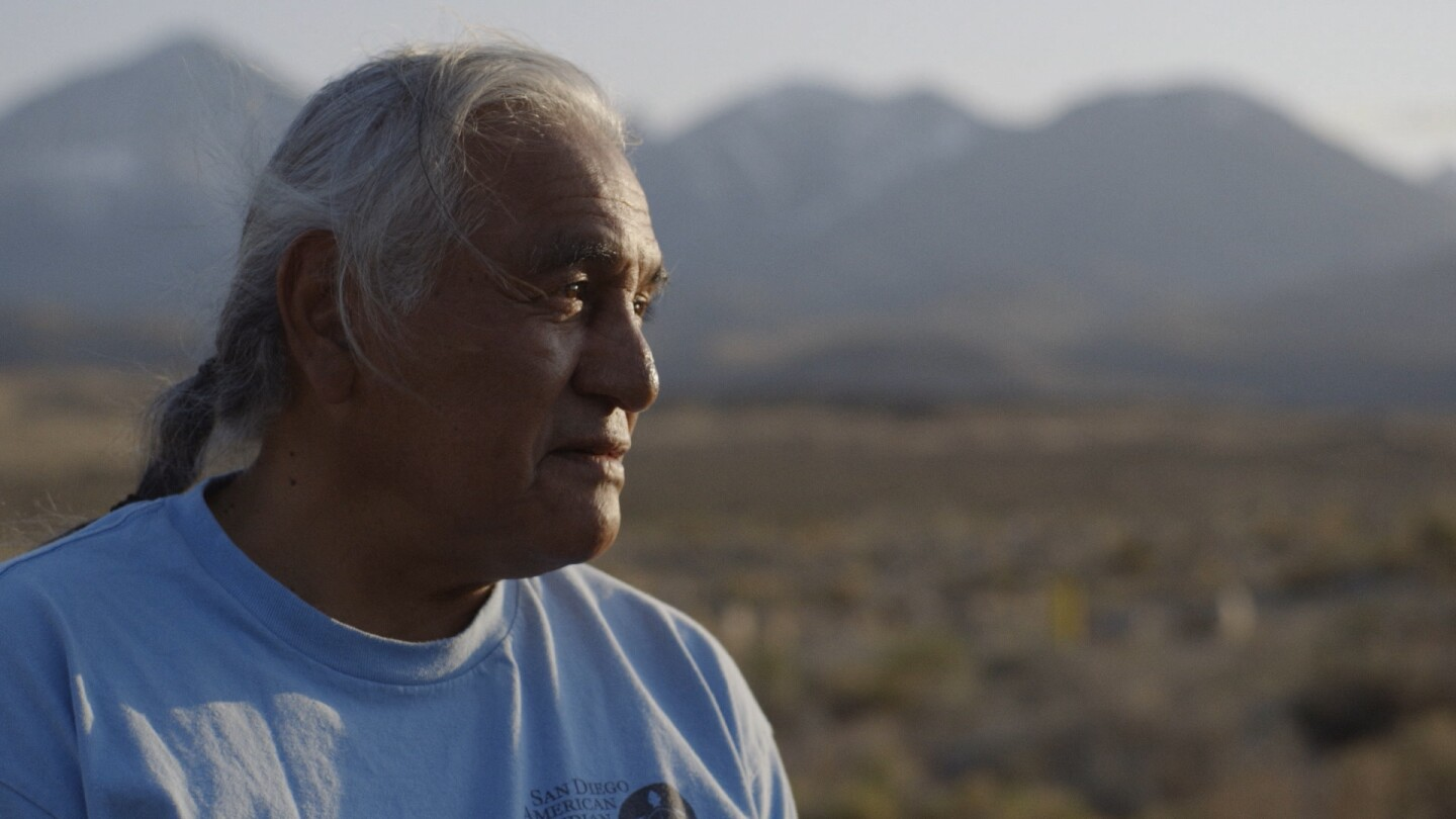 Harry Williams, an elder of the Bishop Paiute Tribe, observes the Owens Valley | Still from Tending Nature