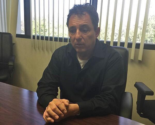 Frank Senteno in his office