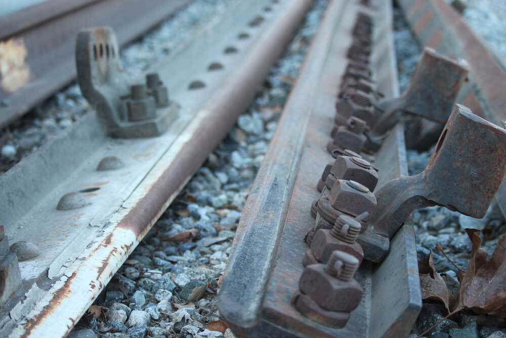 Close-up shot of tracks at Taylor Yard. | Courtney Cecale