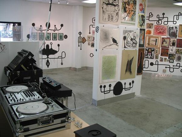 Installation shot of an art exhibition in Pehrspace. | Photo courtesy Pauline Lay.