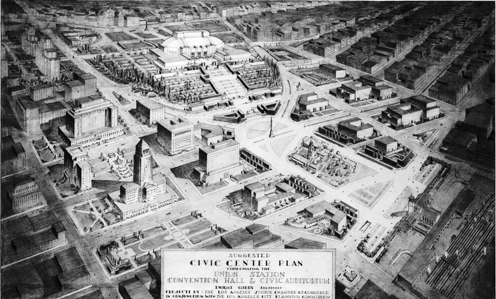 Dwight Gibbs Civic Center plan, 1936