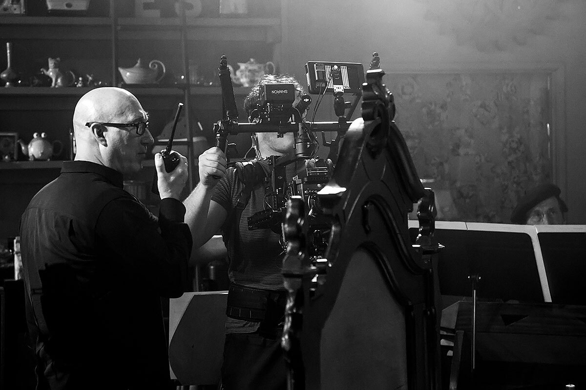 """Director Charles Otte on the set of """"Vireo"""""""