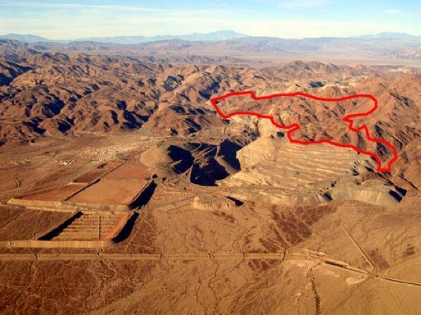 Outlined in red, the site of where the garbage dump is proposed   Photo by Howard Gross/NPCA