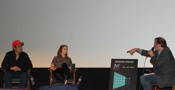 "Benicio Del Toro and Emily Blunt discuss ""Sicario"" with Pete Hammond at the KCET Cinema Series."
