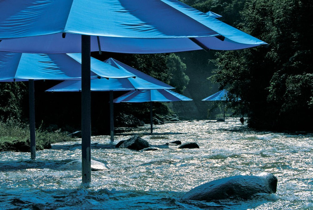 Christo and Jeanne-Claude The Umbrellas, Japan-USA, 1984-91 Blue