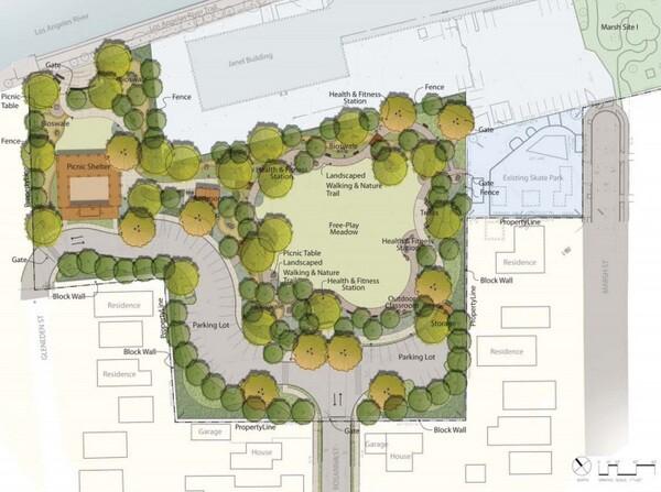 Plans for Marsh Park expansion   Courtesy of the MRCA